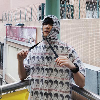 Áo len nam mùa hè phần mỏng kem chống nắng quần áo Hàn Quốc phiên bản của xu hướng của giải trí sinh viên ins trùm đầu của nam giới mùa hè áo khoác thể thao