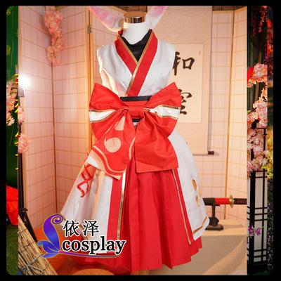 taobao agent Cosplay costume collapse 3cos De Lisa cos cherry firewheel dance printed kimono full set