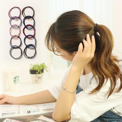 韩国小清新发绳百搭饰品发圈头饰简约高弹力橡皮筋扎头发马尾头绳