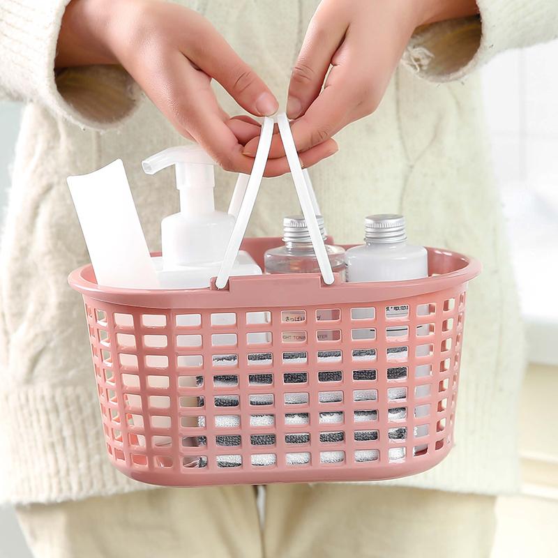 浴室洗澡收纳篮塑料手提沐浴篮洗漱篮子浴室收纳篮镂空浴室收纳筐