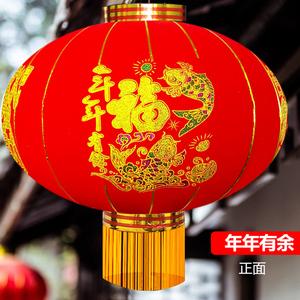 2020灯笼挂饰新年春节过年植绒大门口大红灯笼阳台户外批發厂家