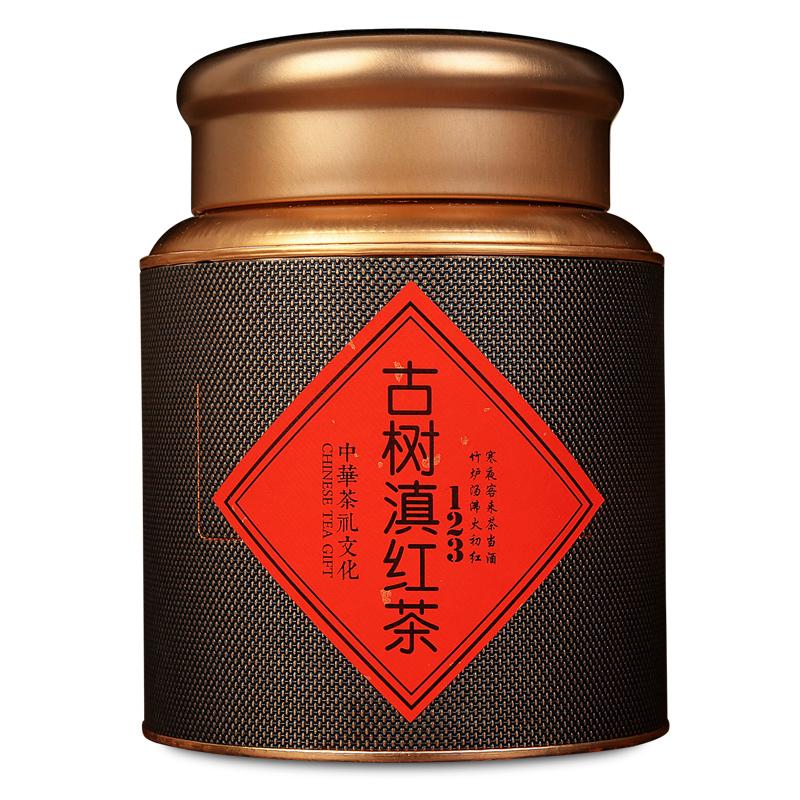云南凤庆野生古树滇红茶特级蜜香金芽缜红茶大金针浓香型春茶罐装