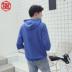 Mùa hè Hàn Quốc trùm đầu ngắn tay áo thun nam áo len với mui xe 7 bảy điểm tay áo lỏng lẻo quần áo năm điểm trong xu hướng tay áo