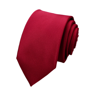 礼盒装商务婚庆红窄版领带男7CM