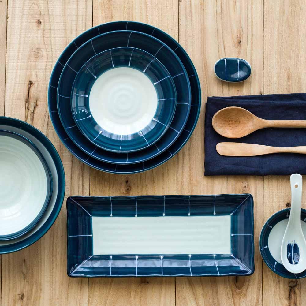 Hiện đại bà nội trợ phong cách Nhật Bản Molan 2 người 6 người 8 người đặt bộ đồ ăn gốm món ăn gia đình món ăn bát gạo mì ăn liền