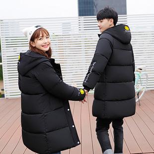 冬季棉衣女中长款韩版加厚棉袄情侣外套