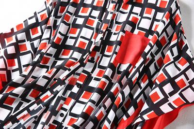 S10638 ~ đặc biệt 18 đoạn mới cao hiện đại ~ bat tay áo lụa đôi kẻ sọc áo đầm ~ Sản phẩm HOT