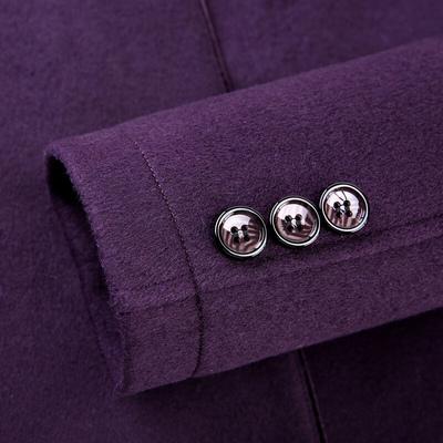 Romeo nam mùa đông mới thanh niên của nam giới áo len cổ áo cổ áo kinh doanh quý ông áo khoác dày D4N510 Áo len
