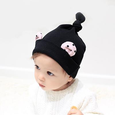 韩国婴儿帽子0-3-6-12个月秋冬季新款男女宝宝胎帽子1-2岁套头帽