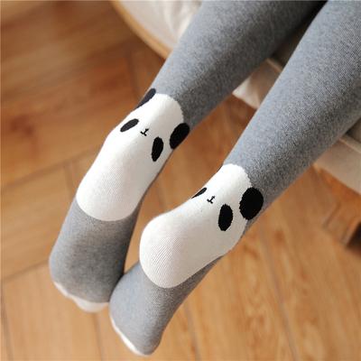 可爱脚跟小熊猫连裤袜春秋中厚丝袜女针织全棉显瘦打底长袜子