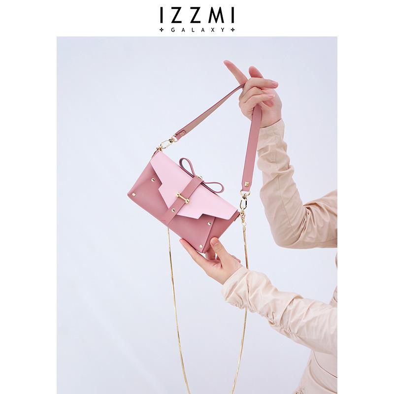 IZZMI原创设计蝴蝶结可爱链条手机小包斜挎单肩手提2020夏天新款