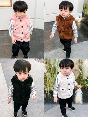 婴儿童小马甲女童男童春秋薄款背心冬季外穿宝宝潮童洋气婴幼儿
