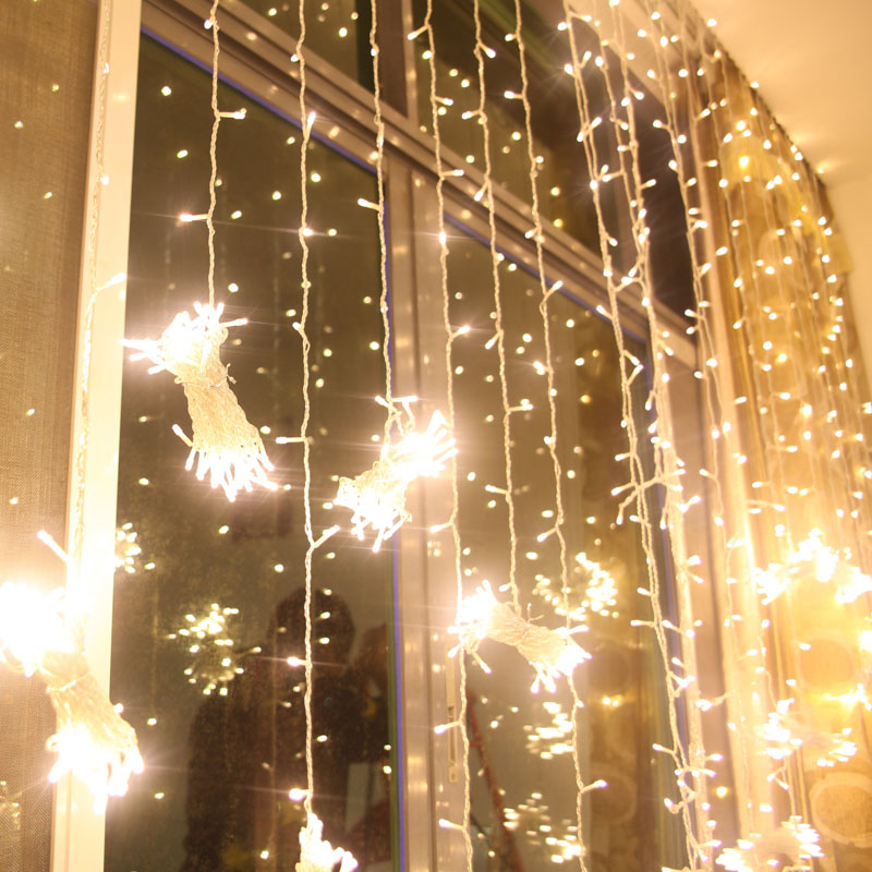 Christmas Light Curtains.300 Led 3m 3m Curtain String Lights Garden Lamps Christmas Icicle Lights Xmas Wedding Party Decorations110v 250v White