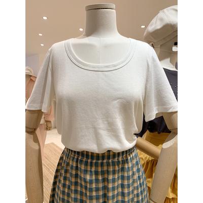 V6短袖T恤女夏季ulzzang简约百搭舒适圆领闪闪三色SALE