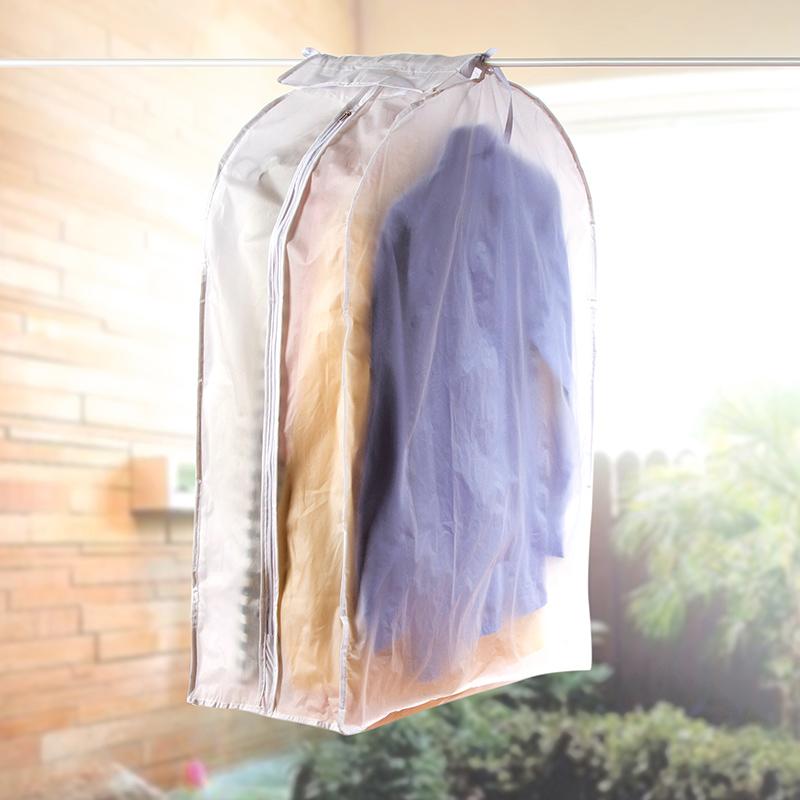 居家家 透明立体衣物防尘罩西装防尘袋 家用塑料防尘套衣柜衣服罩