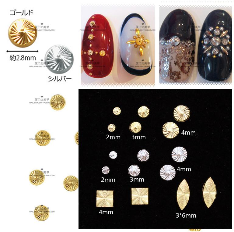 【金属铆钉】美甲饰品指甲饰品日系进口螺旋钉螺纹钉10颗装
