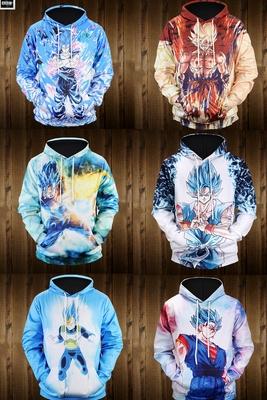 Dragon Ball Tôn Ngộ Không Áo Len Anime Quần Áo Nam Dragon Ball Siêu Áo Khoác Mùa Thu Siêu Saiyan Vegeta Set Head Áo len