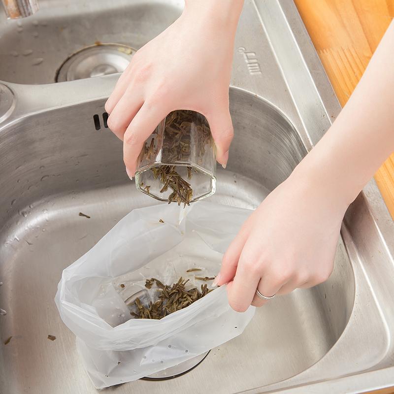 干湿分类残渣过滤袋厨房水池垃圾袋防堵塞隔水袋排水口过滤网