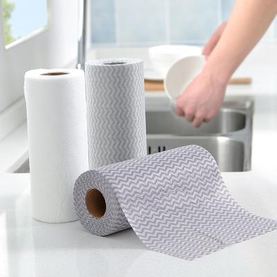 厨房一次性抹布不粘油不掉毛吸水家用干湿两用清洁布洗碗巾洗碗布