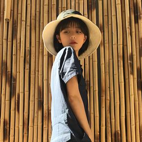 日系简约情侣双面纯色男女渔夫帽
