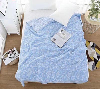 双层纱布纯棉夏季毛巾被 单双人薄毯/床单 休闲毯子 空调毯