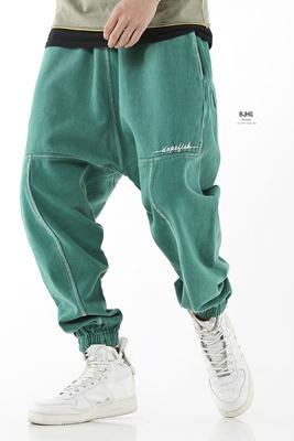BJHG mùa xuân Châu Âu và Mỹ đường phố hip hop hiphop lỏng cũ quần âu thủy triều nam haren treo quần quần chân quần
