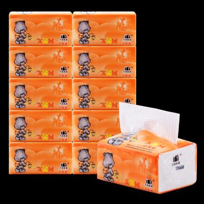 1提10包原木浆3层家用无香压花抽纸巾餐巾纸面巾纸卫生纸特价批发