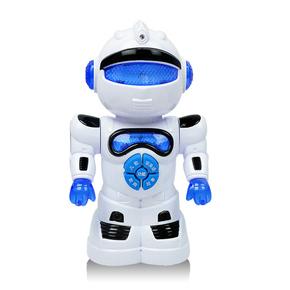 智能音乐机器人电动玩具万向旋转带灯光音乐劲