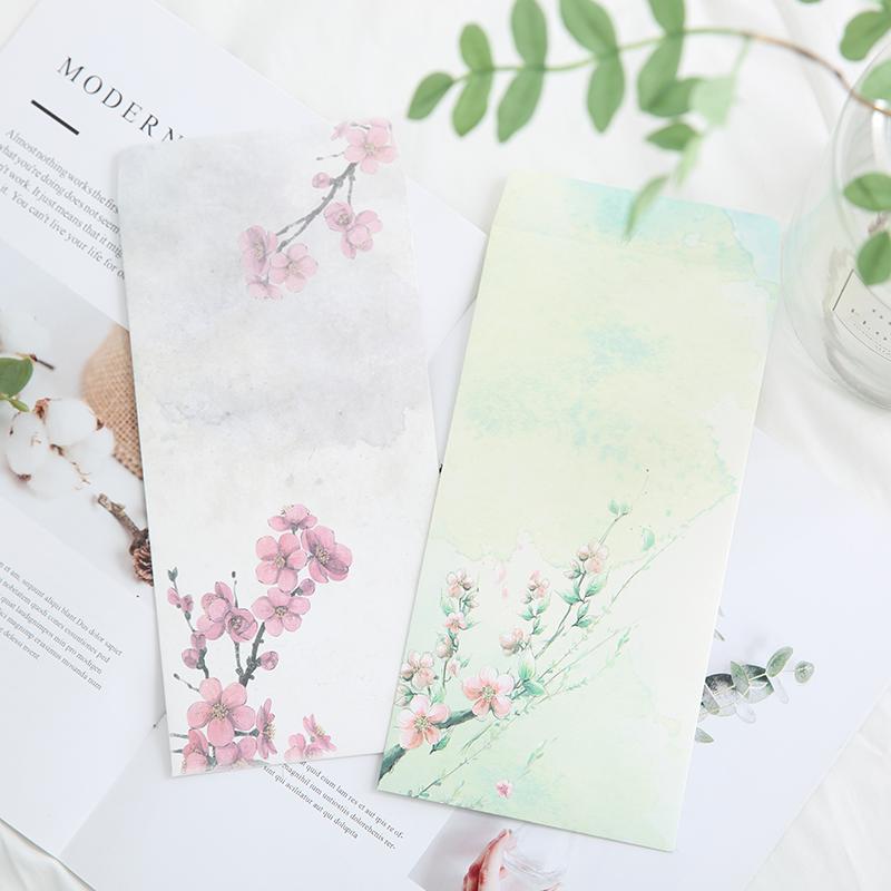 韩国古风创意彩色高档古典邀请函收纳信纸信封情书浪漫定制工资袋