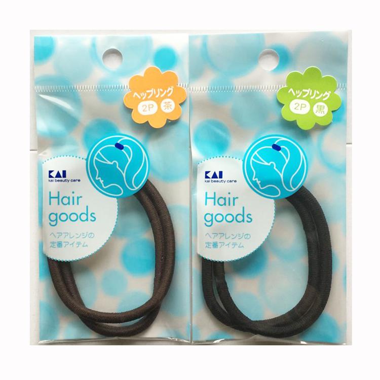 日本原装KAI 贝印 抗菌无接缝橡皮筋 束发发圈头绳 天然橡胶发绳