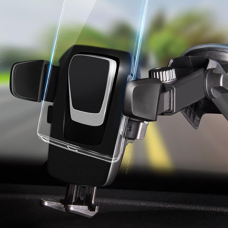 车用手机支架出风口卡扣式吸盘式车载手机架万能多功能重力感应(折扣券10元淘宝包邮)