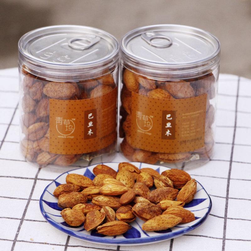 青草坞薄壳巴旦木 2罐装 特产手剥扁桃仁干果零食炒货坚果年货