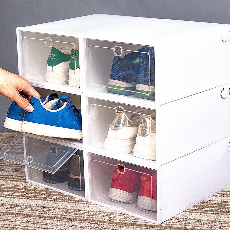 55买6送6共12个装透明鞋盒男女◆鞋子收纳盒抽屉式鞋盒防尘整理106