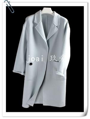 Quần áo nữ YM ★ mùa thu làm bằng tay hai mặt áo len dài áo khoác 6D16