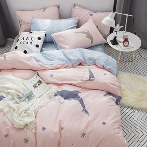 Đơn giản Bắc Âu mùa xuân và mùa hè cotton bốn mảnh đặt 1.8 m bộ đồ giường bốn mảnh cotton 1.5 m giường quilt cover sheets