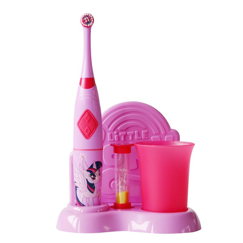 小马宝莉儿童电动牙刷套装软毛宝宝小孩牙刷防水旋转式3-6-12岁
