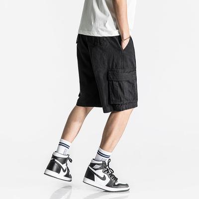 Mùa hè phần mỏng đường phố Mỹ thủy triều của nam giới dụng cụ quần short lớn pocket loose hip hop quần thể thao giản dị năm quần Quần làm việc