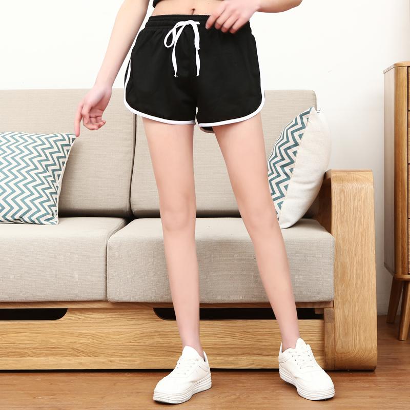 Hàn Quốc phiên bản của lỏng cao eo quần short thể thao chạy của phụ nữ yoga chân rộng quần nóng thủy triều nhà thường mỏng bãi biển quần mùa hè
