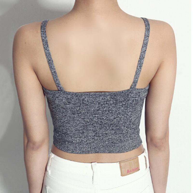 2018 bông đoạn ngắn tiếp xúc rốn hoang dã chặt chẽ song song dây áo sơ mi nữ mùa hè kích thước lớn bên trong một vest nhỏ ống bọc ngực hàng đầu