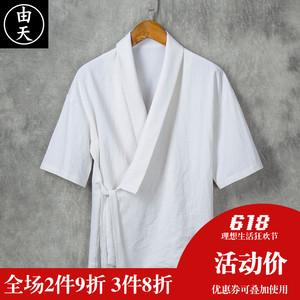 中国风棉麻汉服男装短袖夏季宽松男士青年亚麻上衣中式潮流复古风