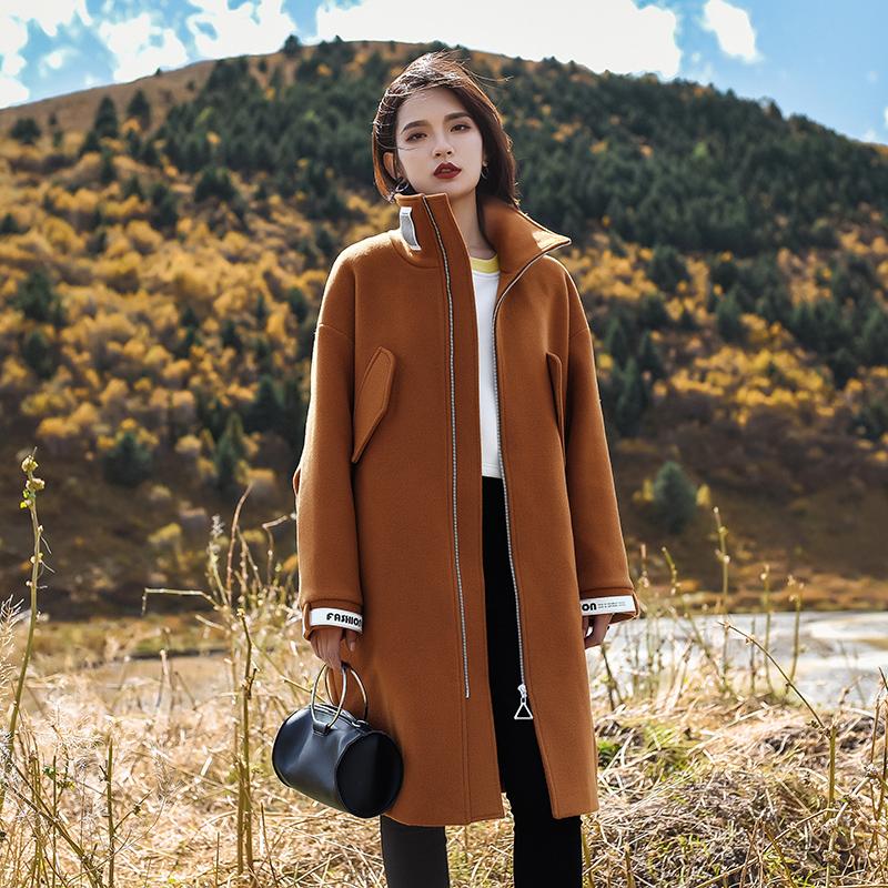 S nhà gốc của phụ nữ mùa thu và mùa đông 2017 mới dài coat dày áo len ulzzang len quần áo