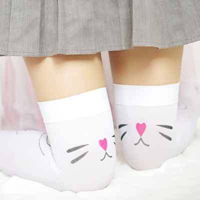 taobao agent I have a cat on my knees~ Japanese sweet girl cat over-knee high socks COS student soft girl cute over-knee socks