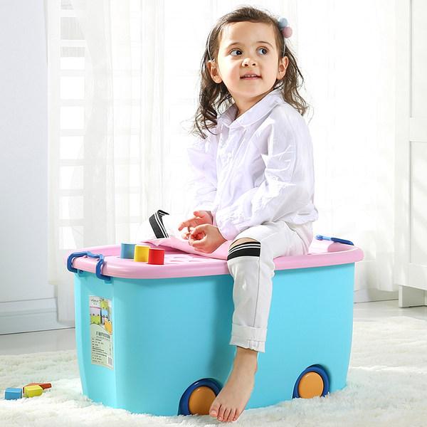 沃之沃 特大号 儿童玩具收纳箱 45L 优惠券折后¥28包邮(¥33-5)