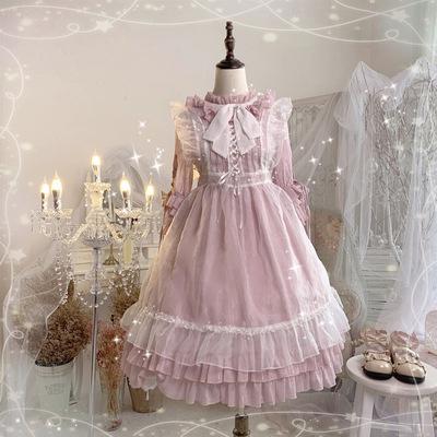 taobao agent Original Zheng Green Japanese Flower Wedding Soft Girl Lolita OP Fairy Apron Lolita Dress Princess Dress Summer