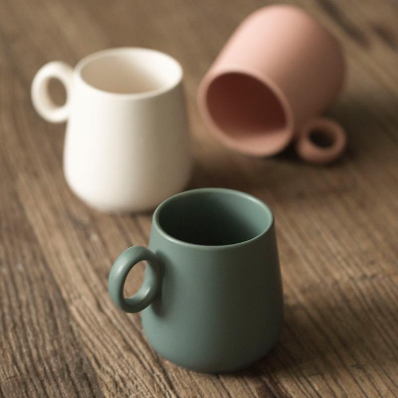 肆月日式简约咖啡杯碟,实用办公室小物