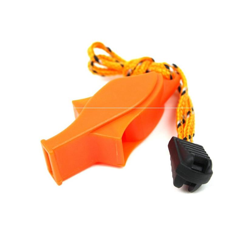 Ngoài trời sống sót tiếng còi tần số cao dolphin trọng tài còi bảo vệ trò chơi thiết bị cứu sinh với sợi dây thừng cam trẻ em ra để thực hiện