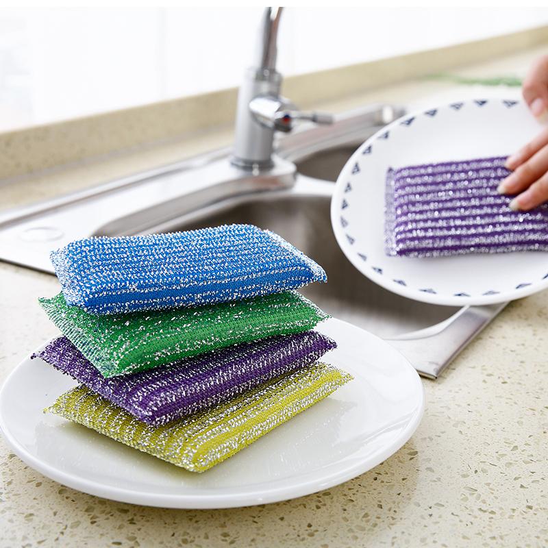 洗刷大王厨房海绵百洁布抹布清洁刷超强去污家务洗碗刷锅布4片装