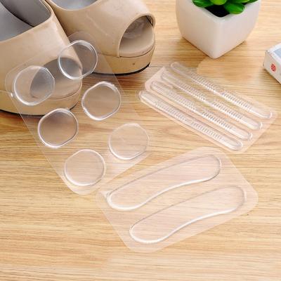 透明后跟贴加厚防磨脚贴鞋不跟脚帖防掉跟鞋贴硅胶防滑半码垫鞋贴