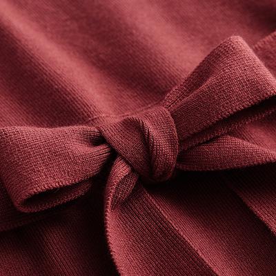 [Giá mới 66 nhân dân tệ] mùa xuân v cổ áo len mỏng váy 2018 với cung dài tay áo đan đầm Sản phẩm HOT
