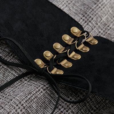 [Giá mới 99 nhân dân tệ] 2018 mùa xuân mới Hàn Quốc phiên bản của mạng trong khâu váy hit màu houndstooth đầm Sản phẩm HOT